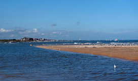 Houlgate beach in Normandy stock image