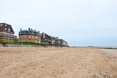 Houlgate city in Normandy, France. Houlgate is a small tourist resort in northwestern France along the English Channel with a beach and a casino Stock Images