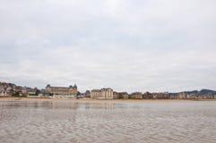 Houlgate-Seeküste während des Winters Normandie-Region, Frankreich Lizenzfreie Stockbilder