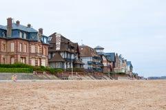 Houlgatearchitectuur Normandië, Frankrijk Stock Foto's