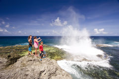 Houma Blowholes 05 stock photo
