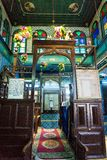 Beautiful decoration in the El Ghriba Synagogue in Houmt Souk, Tunisia royalty free stock photo