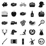 Hound icons set, simple style Royalty Free Stock Images