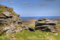 Hound Tor From Chinkwell Tor Royalty Free Stock Photo