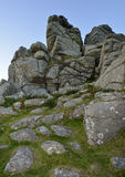 Hound Tor. After sunset, Dartmoor, Devon royalty free stock photography