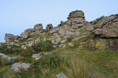 Hound Tor after sunset Royalty Free Stock Image