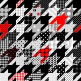 Hounds-tooth geometric pattern of patchworks Royalty Free Stock Photo