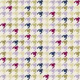 Hounds tooth Pattern. Colorful geometrical hounds tooth pattern Stock Illustration