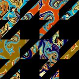 Seamless pattern Paisley. Royalty Free Stock Images