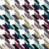 Hounds-tooth pattern with relief effect Royalty Free Stock Image