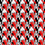 Hounds-tooth patterns in classic colors Royalty Free Stock Photos