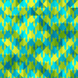 Hounds-tooth patterns in green and blue colors Stock Image