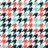 Hounds tooth - retro geometric pattern for clothing fashion. Sea Stock Images