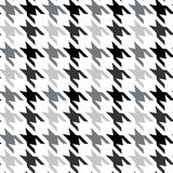 Hounds-tooth seamless vector pattern. Geometric print in black and red color. Classical English background Glen plaid Glenurquhart royalty free illustration