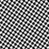 Houndstooth_Black-White Stock Image