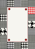 Houndstooth border Stock Image