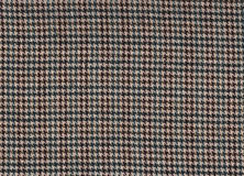 Houndstooth Check Fabric. Scan of a brown  and green houndstooth check fabric Royalty Free Stock Image