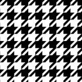 Houndstooth bezszwowy deseniowy czarny i biały, wektor royalty ilustracja