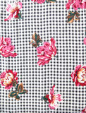 Houndstooth floral fabric from 70s Royalty Free Stock Image