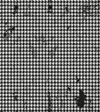 Houndstooth, geschecktes nahtloses Schwarzes de Poule und Lizenzfreies Stockfoto