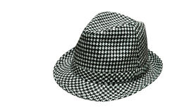 Houndstooth Hat Royalty Free Stock Photography