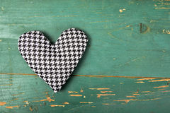 Houndstooth heart Royalty Free Stock Photography