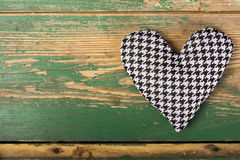 Houndstooth heart Stock Images