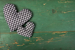 Houndstooth hearts Stock Image