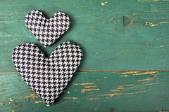 Houndstooth hearts Royalty Free Stock Photo