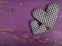 Houndstooth hearts on a pinkbackground Stock Photo