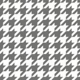 Houndstooth naadloos zwart-wit vectorpatroon Stock Foto