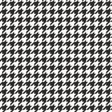 Houndstooth naadloze vector zwart-witte patroon of tegelachtergrond Royalty-vrije Stock Afbeelding