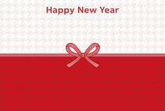 Houndstooth new year card Stock Image
