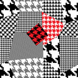 Houndstooth patchwork Stock Images