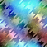 Houndstooth pattern on abstract blurred background Stock Photos