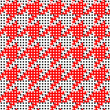 Houndstooth pattern on abstract geometric background. Stock Image