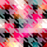 Houndstooth pattern on abstract geometric Stock Images