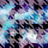 Houndstooth pattern on abstract geometric Stock Photos