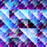 Houndstooth pattern on abstract geometric Royalty Free Stock Image