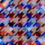 Houndstooth pattern on abstract geometric Royalty Free Stock Photo