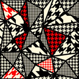 Houndstooth pattern on abstract geometric Stock Photo