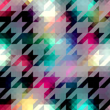 Houndstooth pattern on abstract geometric Royalty Free Stock Photos