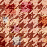Houndstooth pattern on abstract retro background Stock Photos