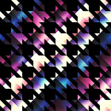 Houndstooth pattern on black background Royalty Free Stock Photography