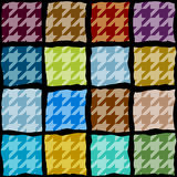 Houndstooth pattern with the geometric squares Royalty Free Stock Photo