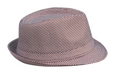 Houndstooth Pattern Mans Hat Royalty Free Stock Images
