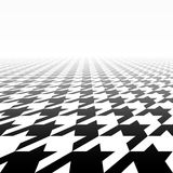 Houndstooth pattern perspective Stock Photo