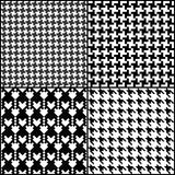 Houndstooth  pattern. Vector Houndstooth  seamless fashion patterns set Stock Photos