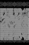 Houndstooth pied de poule sömlös svart och Royaltyfria Bilder