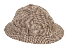 Houndstooth Pith Hat royalty free stock photo